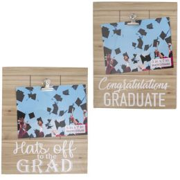 24 Units of Grad Photo Clip Board Frame Hanging - Graduation