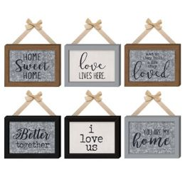 12 Units of Home Wall Decor Fabric Wall Hang With Bow - Home Decor