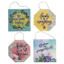 98 Units of Home Decor Hanging Signs - Home Decor
