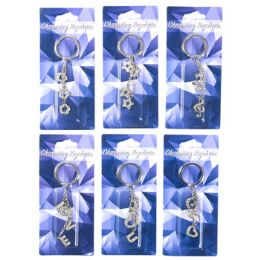36 Units of Keychain Rhinestone Charm - Key Chains