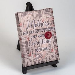 24 Units of Plaque Wooden Crafty Moms - Home Decor