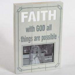 12 Units of Plaque Frame Faith Laser Cut - Home Decor