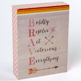 24 Units of Tabletop Plaque Brave - Home Decor