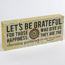 24 Units of Tabletop Sign Lets Be Grateful - Home Decor