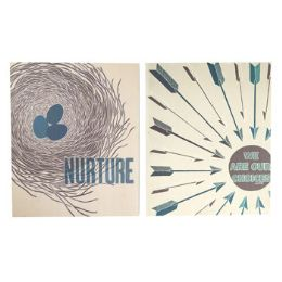 4 Units of Wall Art Nest And Arrow - Home Decor