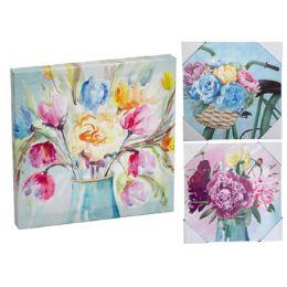 24 Units of Wall Art Canvas Florals - Home Decor
