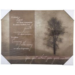 24 Units of Wall Decor Canvas Its About Love - Home Decor