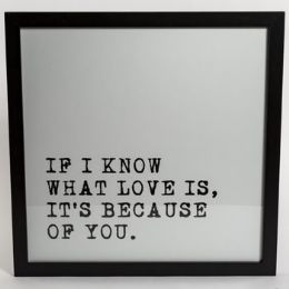 6 Units of Wall Decor Know What Love is - Home Decor
