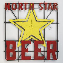 Wall Decor Metal North Star Beer Sign - Home Decor