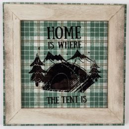 24 Units of Wall Decor Home Is Where The Tent is - Home Decor