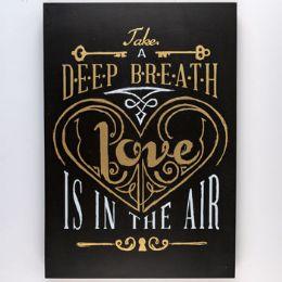 8 Units of Wall Decor Deep Breath Love - Home Decor