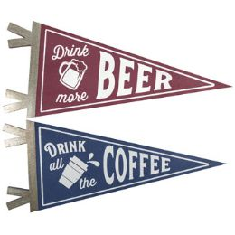 8 Units of Wall Decor Pennant Beer And Coffee - Home Decor