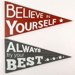 24 Units of Wall Decor Pennant Best And Believe - Home Decor