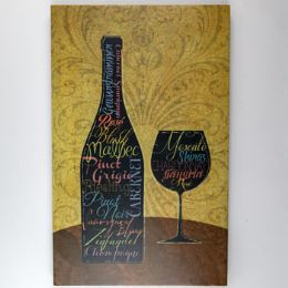 8 Units of Wall Decor Wine Bottle Glass Wooden - Home Decor