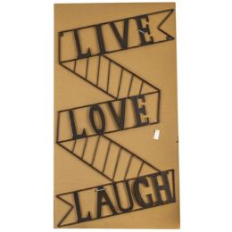 8 Units of Wall Decor Metal Live Laugh Love - Home Decor
