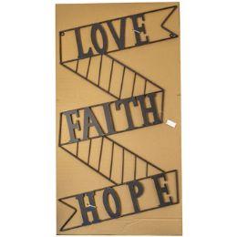 8 Units of Wall Decor Metal Love Faith Hope - Home Decor