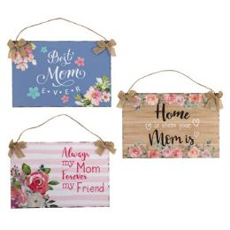24 Units of Wall Decor Mom With Burlap Bow - Home Decor