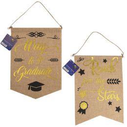 36 Units of Graduation Banner Faux Burlap Hotstamp Print - Graduation