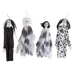 24 Units of Creepy Ghost Doll Hanging Decor - Halloween & Thanksgiving