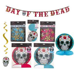 36 Units of Day Dead Sugar Skull Party Decor - Halloween & Thanksgiving