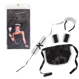 12 Units of French Maid Accessory Kit - Halloween & Thanksgiving