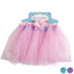 24 Units of Glitter Skirt Tutu With Flower Gem - Halloween & Thanksgiving
