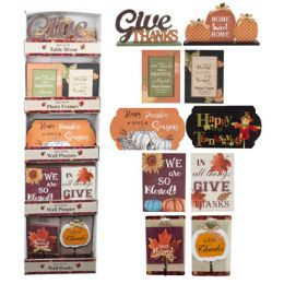 24 Units of Harvest Decor - Halloween & Thanksgiving