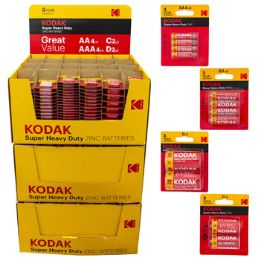 Batteries Kodak Super Heavy Duty 1080 Piece Pallet Display - Batteries