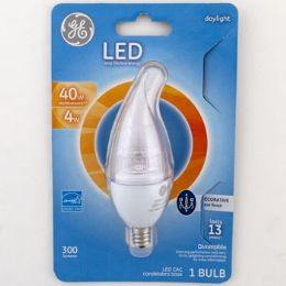 4 Units of Light Bulb Led Deco Daylight Clear Finish Bent Tip Carded - Lightbulbs