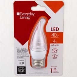 3 Units of Light Bulb Led Soft White Bent Tip Med Medium Base - Lightbulbs