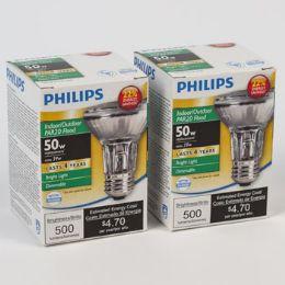 6 Units of Light Bulb Halogen Philips Dimmable Flood Med Base - Lightbulbs
