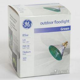 6 Units of Light Bulb Green Ge Outdoor Flood Med Base - Lightbulbs