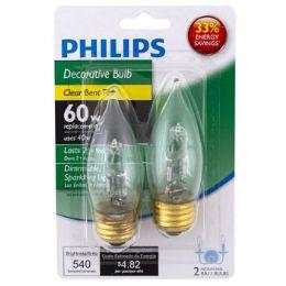 6 Units of Light Bulb Philips Med Base Clear Bent Tip - Lightbulbs