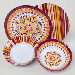 48 Units of Melamine Fall Color Plate And Bowl - Disposable Plates & Bowls