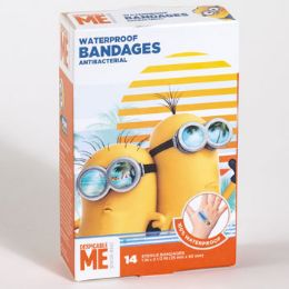 72 Units of Bandages 14 Count Despicable Me Waterproof Anti Bacterial - Bandages and Support Wraps