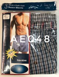 72 Units of Mens Boxer Shorts Plaid Print - Mens Underwear