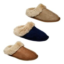 36 Units of Women's Plush Fur Lined House Slipper - Women's Slippers