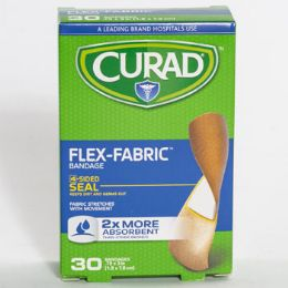24 Units of Bandages Curad 30 Countt Flex Fabric Boxed - Bandages and Support Wraps