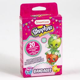 24 Units of Bandages Kids Shopkins Plastic Strips Boxed - Bandages and Support Wraps