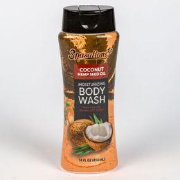 12 Units of Body Wash Coconut Hemp Seed Oil Spasations - Bath & Body