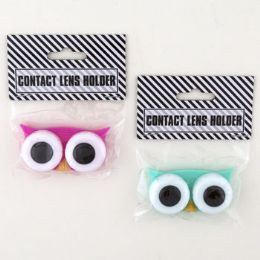 48 Units of Contact Lens Holder Owl Eyes Novelty - Bath And Body