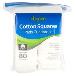 24 Units of Cotton Squares Resealable Poly Bag - Cotton Balls & Swabs