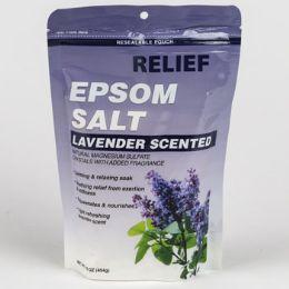12 Units of Epsom Salt Bath Soak Lavender Resealable Bag - Bath And Body