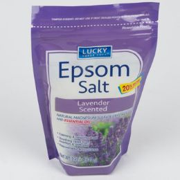 12 Units of Epsom Salt Lavender Resealable Bag - Bath And Body