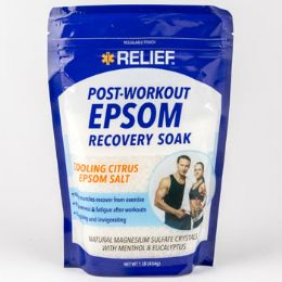 12 Units of Epsom Salt Post Workout Recovery Resealable Bag Cooling Citrus - Bath And Body