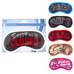 48 Units of Eye Mask Satin Assorted Design - Bath And Body