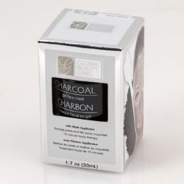 24 Units of Face Mask Charcoal Gel With Applicator Boxed - Bath And Body