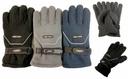 36 Units of Solid Color Fleece Gloves -30 Degrees Very Warm Sports Glove - Fleece Gloves