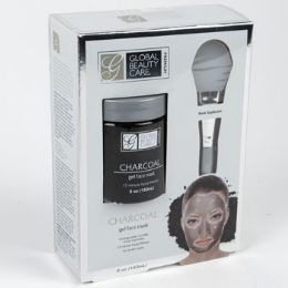 24 Units of Face Mask Gel Charcoal With Applicator Boxd Spa Scriptions - Bath And Body