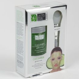 24 Units of Face Mask Gel Cucumber With Applicator Boxed Spa Scriptions Boxed - Bath And Body